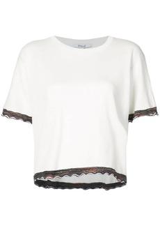 Derek Lam Short Sleeve Sweater With Rib Trim