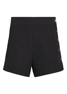 Derek Lam Side Snap Black Shorts