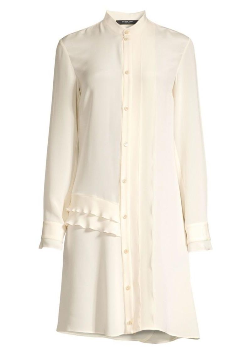 Derek Lam Silk Ruffled Shirtdress