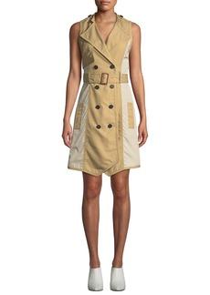Derek Lam Sleeveless Belted Trench Dress