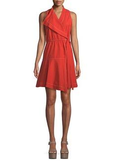 Derek Lam Sleeveless Cotton Wrap Dress