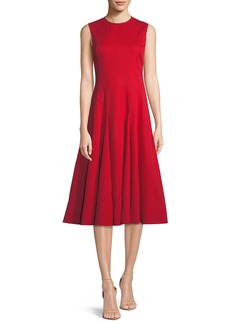 Derek Lam Sleeveless Fit-and-Flare Cocktail Dress