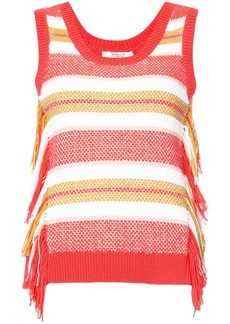 Derek Lam Sleeveless Knit Top With Fringe