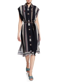 Derek Lam Sleeveless Provincial Striped Dress