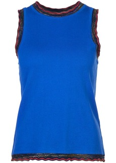 Derek Lam Sleeveless Shell With Rib Trim