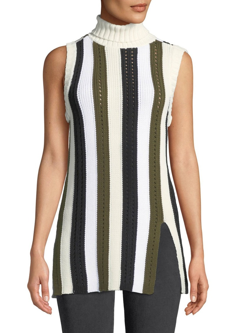 903ce48a63a87e Derek Lam Sleeveless Striped Turtleneck Sweater Now  83.65