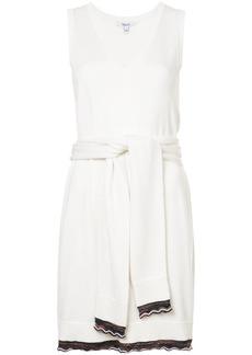 Derek Lam Sleeveless Tie-Waist Knit Dress