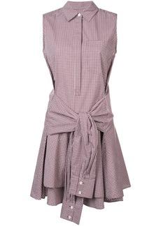 Derek Lam Sleeveless Tie-Waist Shirtdress