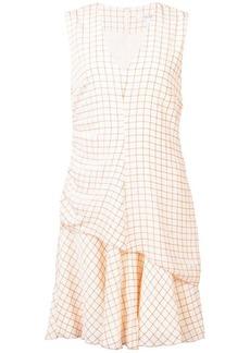 Derek Lam Sleeveless V-Neck Ruched Dress