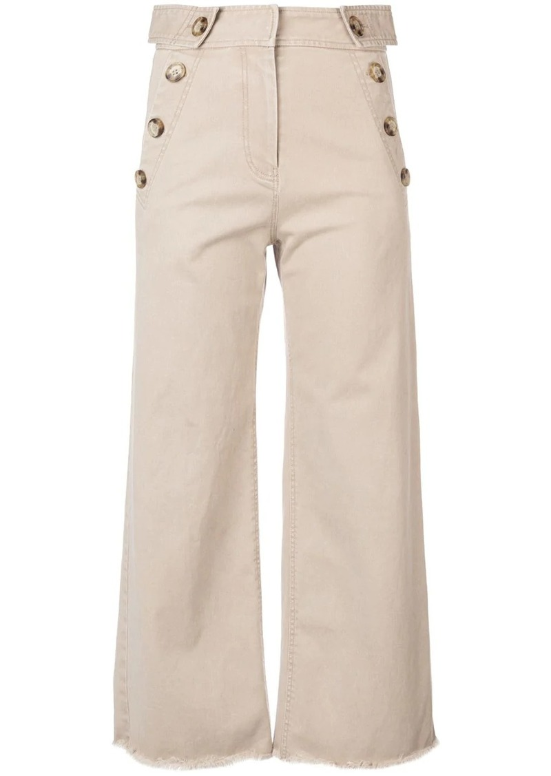 Derek Lam Slim Culotte with Button Detail