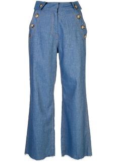 Derek Lam button pocket cropped jeans
