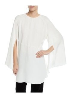 Derek Lam Split-Sleeve Tie-Back Tunic