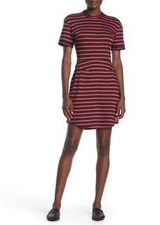 Derek Lam Stripe Knit T-Shirt Dress