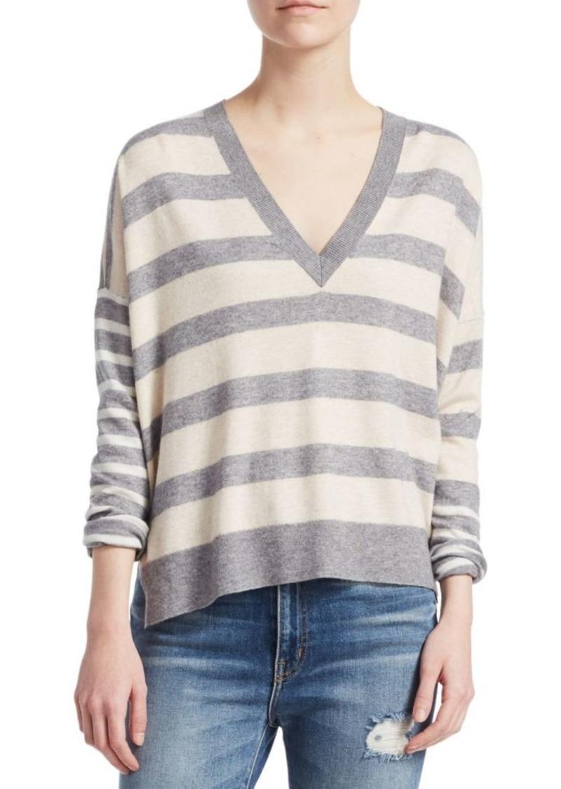 Derek Lam Stripe V-Neck Sweater