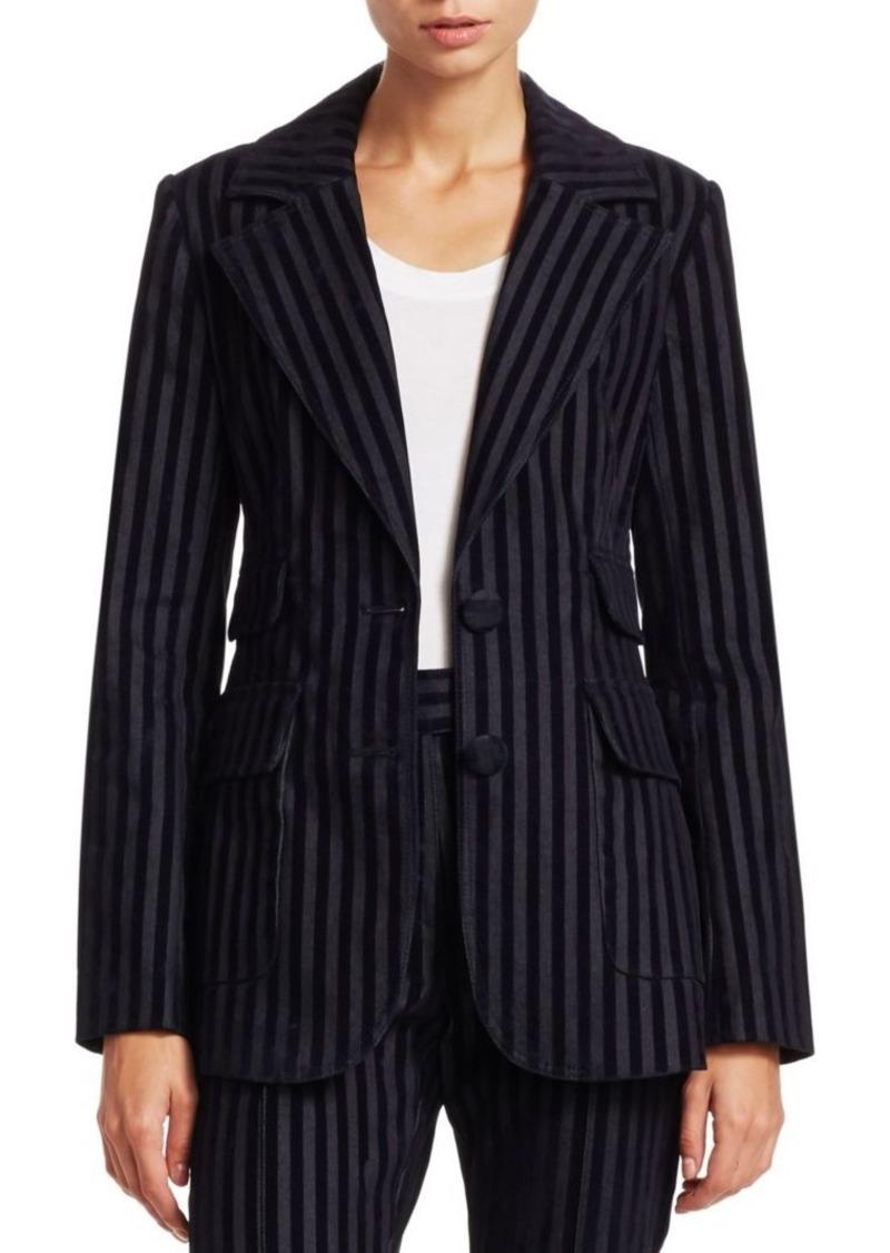 Derek Lam Stripe Velvet Blazer