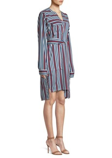 Derek Lam Striped Belted Shirtdress