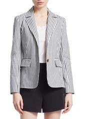 Derek Lam Striped Cotton Blazer