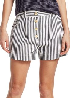 Derek Lam Striped Cotton-Blend Shorts