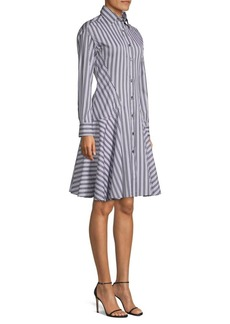 Derek Lam Striped Cotton Shirtdress