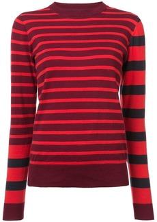 Derek Lam Striped Crewneck Pullover