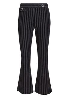 Derek Lam Striped Crop Flare Trousers