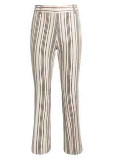 Derek Lam Striped Crop Flare Twill Trousers
