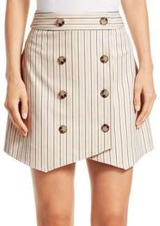 Derek Lam Striped Double-Breasted Mini Skirt