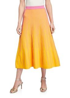 Derek Lam Striped Knit A-Line Skirt