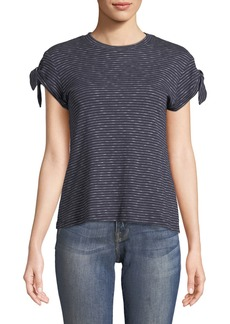 Derek Lam Striped Knot-Sleeve Tee