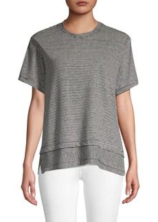 Derek Lam Striped Linen & Cotton Blend Top