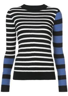 Derek Lam Striped Mock Neck Pullover