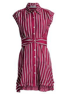 Derek Lam Striped Poplin Shirtdress