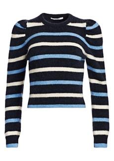 Derek Lam Striped Puff Sleeve Sweater