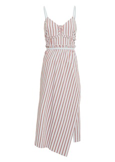 Derek Lam Striped Ruffle Cami Dress