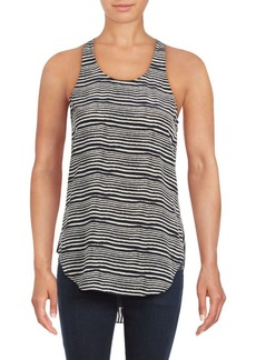 Derek Lam Striped Silk Tank Top