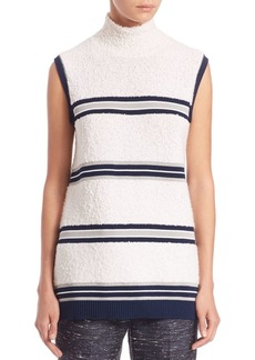 Derek Lam Striped Sleeveless Bouclé Top
