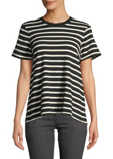 Derek Lam Striped Split-Back Knit Tee