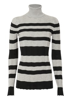 Derek Lam Striped Turtleneck Pullover