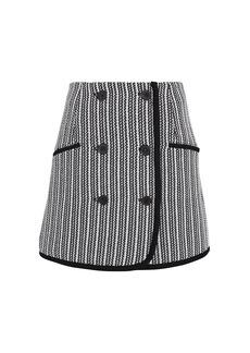 Derek Lam Striped Tweed Skirt