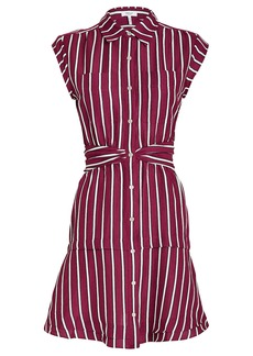 Derek Lam Striped Twist Waist Shirt Dress