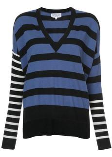 Derek Lam Striped V-Neck Pullover