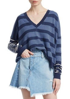 Derek Lam Striped V-Neck Sweater