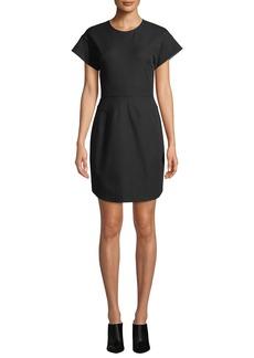 Derek Lam Structure Short-Sleeve Crewneck Short Dress