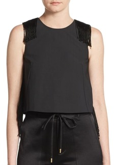 Derek Lam Tassel Detailed Cropped Top