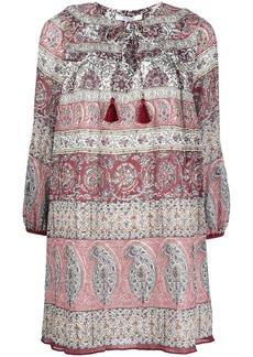 Derek Lam tassel-trim paisley-print minidress