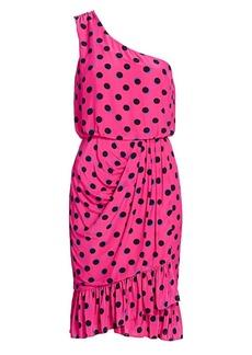 Derek Lam Taula Polka Dot One-Shoulder Dress