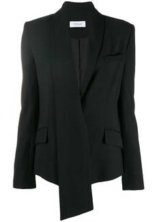 Derek Lam Telma Asymmetrical Essential Crepe Shawl Collar Blazer