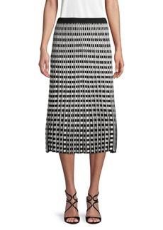 Derek Lam Textured Check-Print Skirt