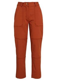 Derek Lam Therese Straight-Leg Twill Pants