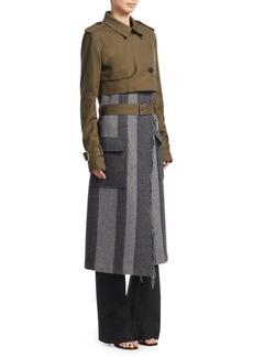 Derek Lam Three-In-One Military Trench Coat